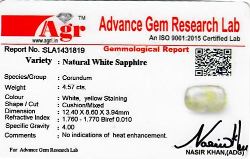 White Sapphire - 4.57 carats