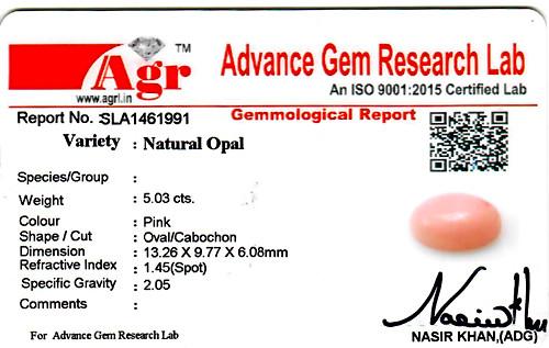 Pink Opal - 5.03 carats