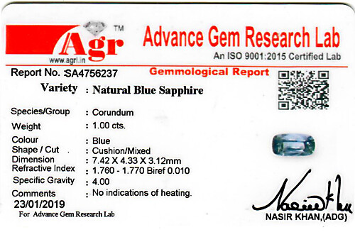 Blue Sapphire - 1 carats