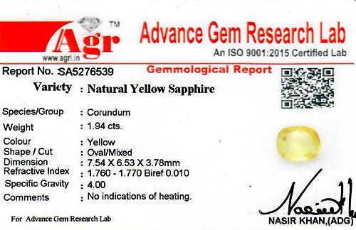 Yellow Sapphire - 1.94 carats