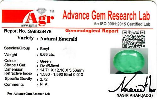Emerald - 6.83 carats