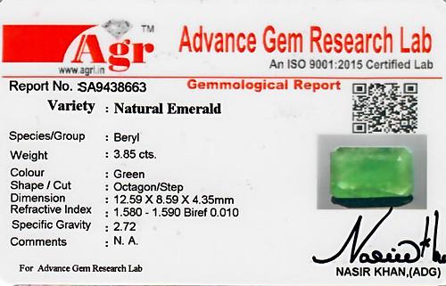 Emerald - 3.85 carats