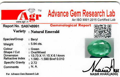 Emerald - 5.94 carats