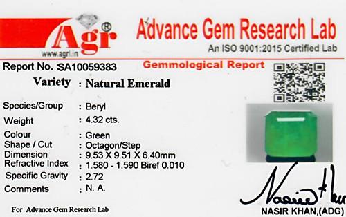 Emerald - 4.32 carats