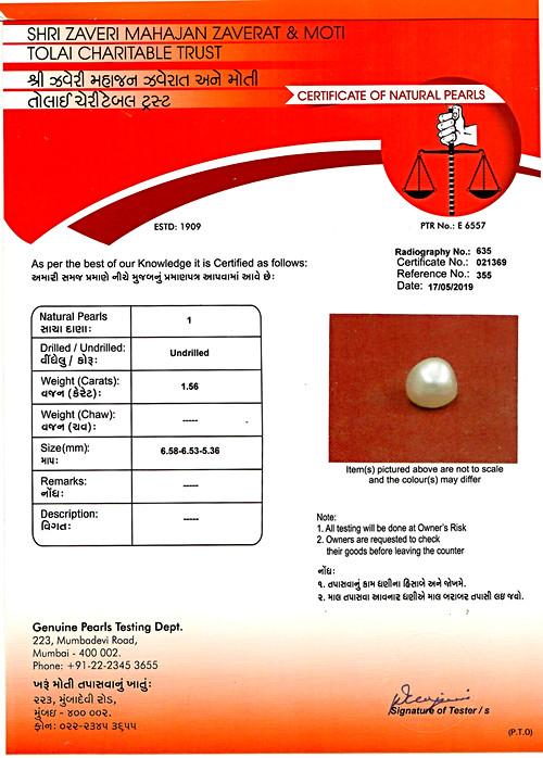 Natural Basra Pearl - 1.56 carats