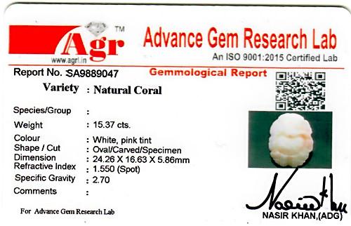 White Coral Ganesha - 15.37 carats