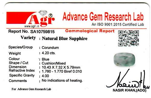 Blue Sapphire - 4.20 carats