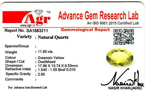 Lemon Quartz - 11.85 carats