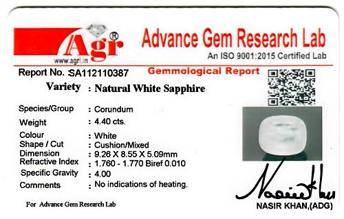 White Sapphire - 4.40 carats