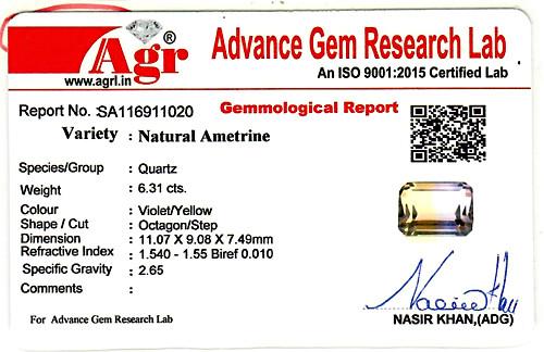Ametrine - 6.31 carats