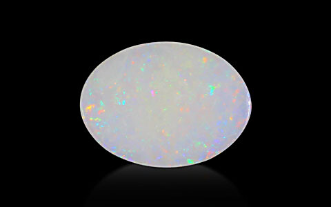 White Opal With Fire - 4.24 carats