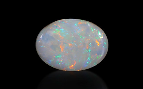 White Opal With Fire - 6.62 carats