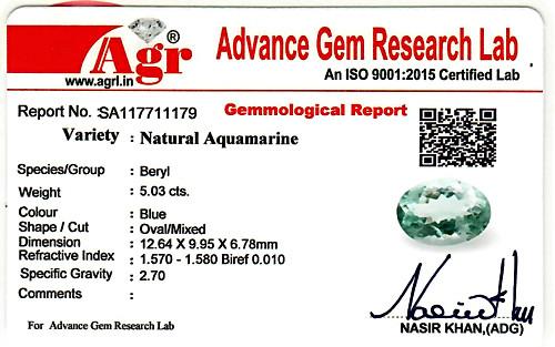 Aquamarine - 5.03 carats