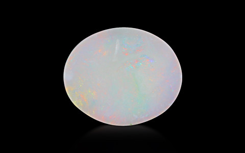 White Opal With Fire - 3.80 carats