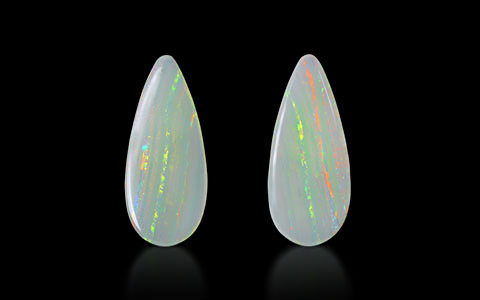 White Opal with Fire (Pair) - 19.23 carats