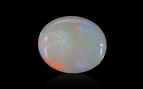 White Opal With Fire - 3.23 carats