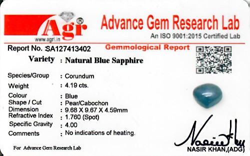 Blue Sapphire - 4.19 carats