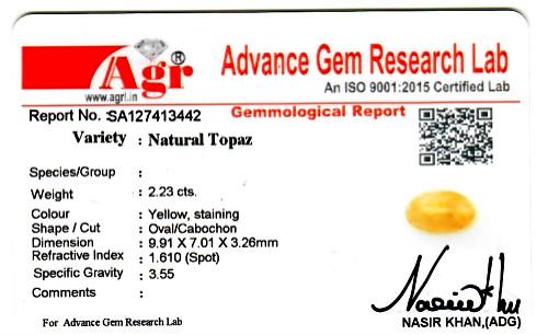 Yellow Topaz - 2.23 carats