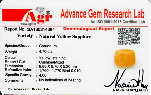 Yellow Sapphire - 4.70 carats