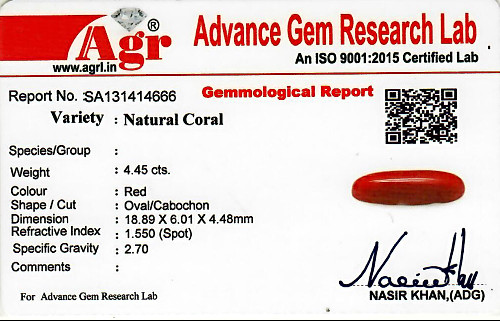 Red Coral - 4.45 carats