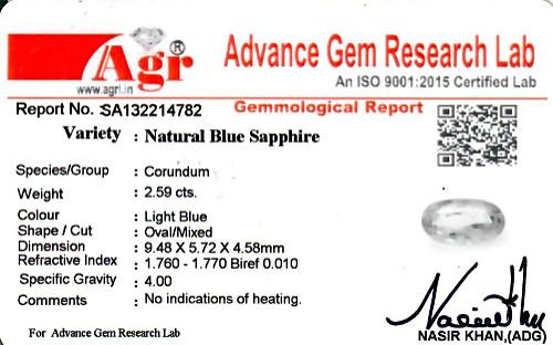 Blue Sapphire - 2.59 carats
