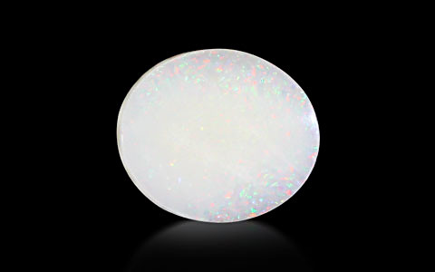 White Opal With Fire - 3.75 carats