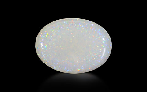 White Opal With Fire - 2.69 carats