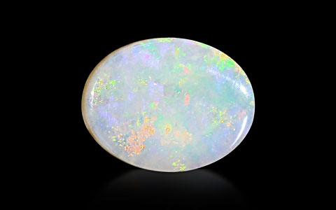 White Opal With Fire - 3.16 carats