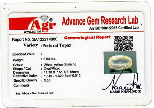 Yellow Topaz - 5.04 carats