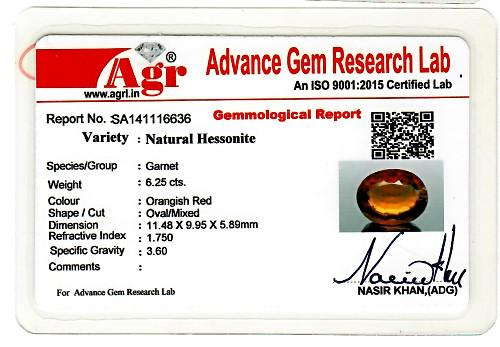 Hessonite - 6.25 carats
