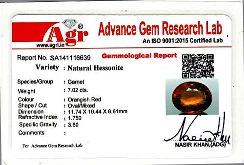 Hessonite - 7.02 carats