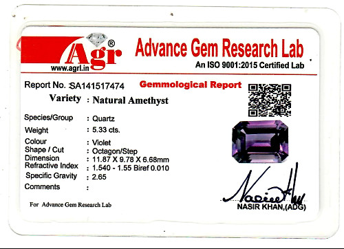 Amethyst - 5.33 carats