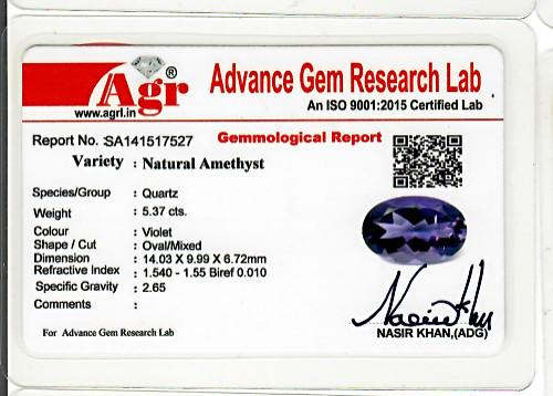Amethyst - 5.37 carats