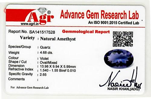 Amethyst - 4.68 carats
