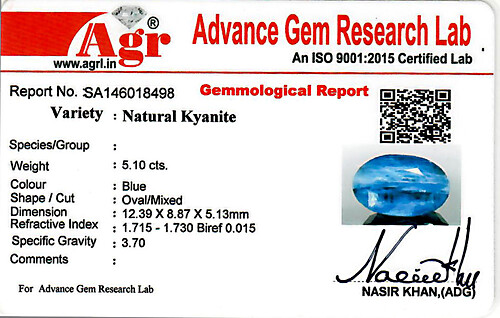 Blue Kyanite - 5.10 carats