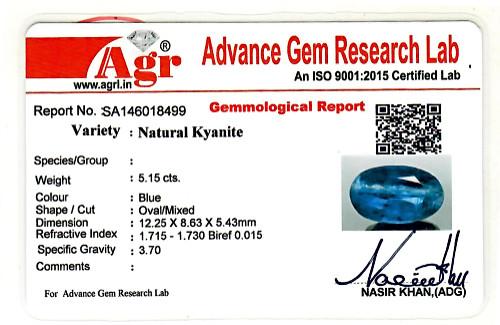 Blue Kyanite - 5.15 carats
