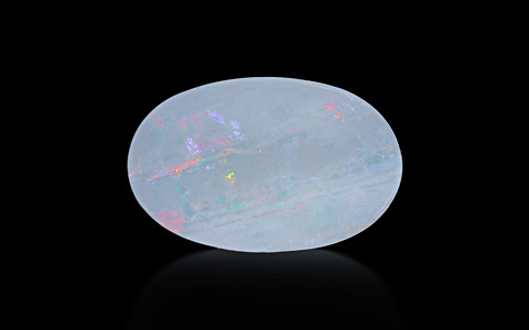 White Opal With Fire - 5.23 carats