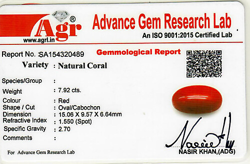 Red Coral - 7.92 carats