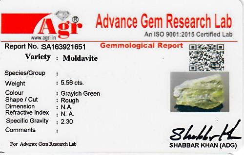Moldavite - 1.11 grams