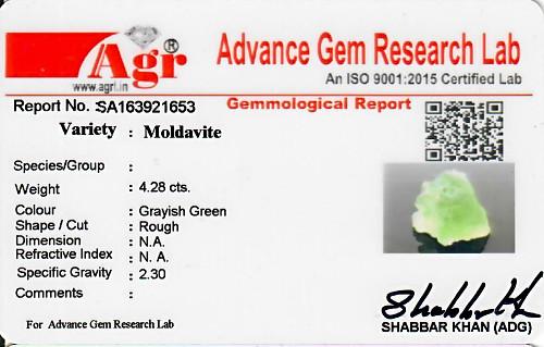Moldavite - 0.86 grams