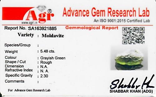 Moldavite - 1.10 grams