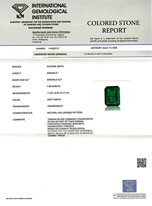 Emerald - 4.88 carats