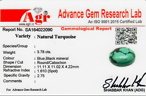 Turquoise - 3.78 carats