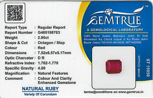 Ruby - 2.90 carats