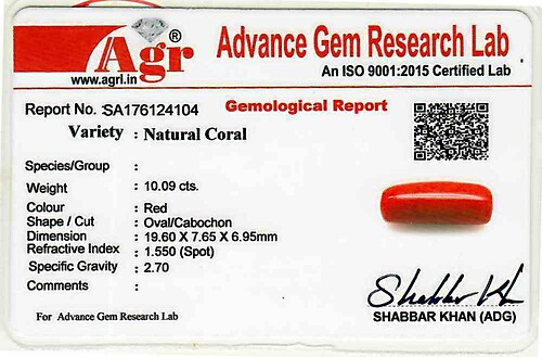 Red Coral - 10.09 carats
