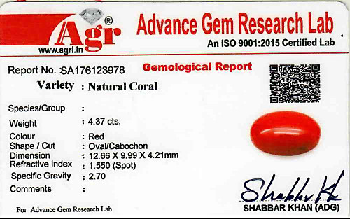 Red Coral - 4.37 carats