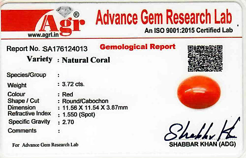Red Coral - 3.72 carats