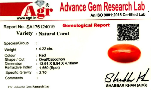 Red Coral - 4.22 carats