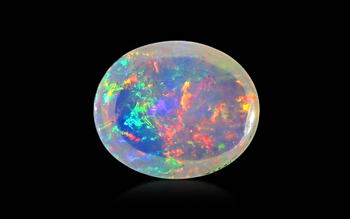 White Opal With Fire - 4.78 carats