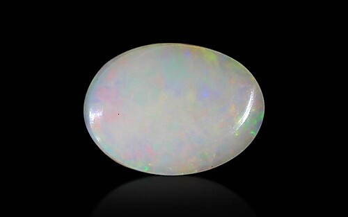 White Opal With Fire - 5.30 carats